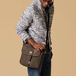 Fossil Men's 'Estate' Canvas/ Leather City Bag