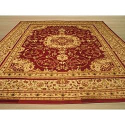 Red Esfahan Rug (5'2 x 7'2)