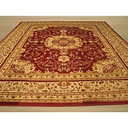 Red Esfahan Rug (8'2 x 9'10)
