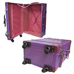Amerileather Vintage Violet 23-inch Spinner Trunk Suitcase