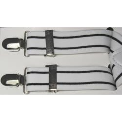 Ferrecci Men's White/ Black Stripe Suspenders