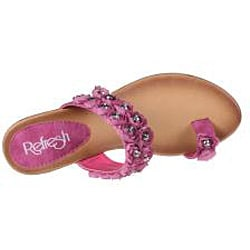 Refresh by Beston Women's 'Summer-01' Fuchsia Wedge Sandals