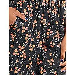 Stanzino Women's Black Floral Halter Jumpsuit