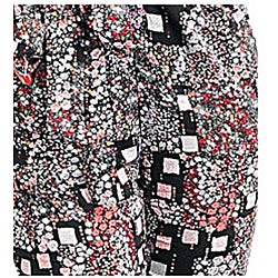 Stanzino Women's Black / Pink Abstract-print Jumpsuit