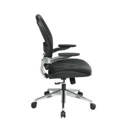 Office Star Products Professional Leather Seat Air Grid Chair