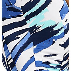 Stanzino Women's Blue Abstract Printed Mini Dress