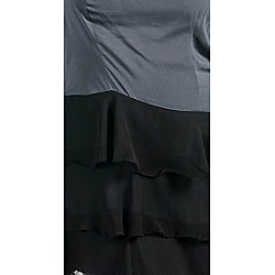 Stanzino Women's Gray/ Black Ruffled Skirt Dress