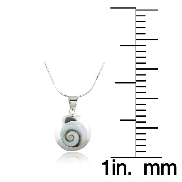 Chuvora Sterling Silver Shell Inlay Shiva Eye Swirl Necklace
