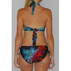 Jag Women's Black Tropical Print Halter Bikini