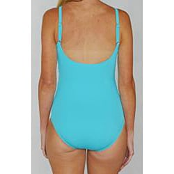 Jantzen Classics Twist Top One-piece Teal Swimsuit