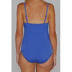 Jantzen Classics Dazzling Blue Ruffle-top 1-piece Swimsuit