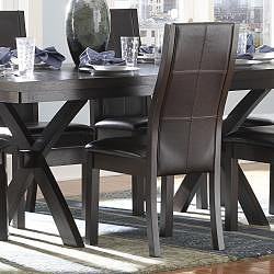 ETHAN HOME Dartford Espresso 7-piece Contoured Dining Set