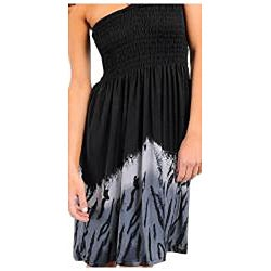 Stanzino Women's  Black/ Grey Beaded Halter Dress