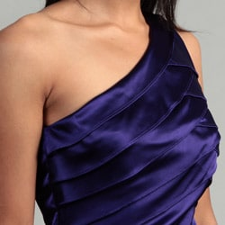 London Times Women's Purple Passion Shutter Dress