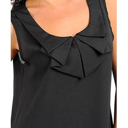 Stanzino Women's Plus Size Black Embellished Neckline Top