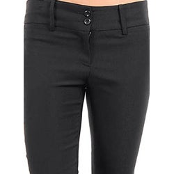 Stanzino Women's Black Flare-leg Pants