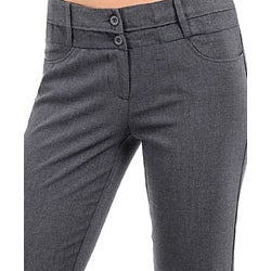 Stanzino Women's Flare-leg Grey Pants