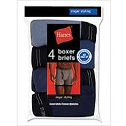 Hanes Men's Blue Ringer Boxer Brief (Pack of 4)