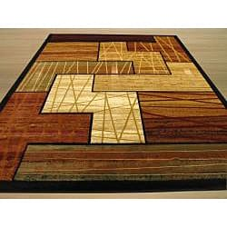 Hand-carved Contemporary Geometric Design Rug (7'10 x 9'10)