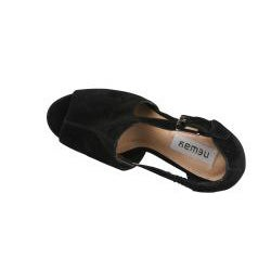Neway by Beston Women's 'Daisy-02' Black Peep Toe Platforms
