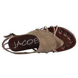 Jacobies by Beston Women's 'Good-06' Khaki Sandals