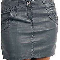 Stanzino Women's Plus-size Dark Grey Mini Skirt