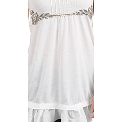 Stanzino Women's Plus-size Ivory Sleeveless Babydoll Top