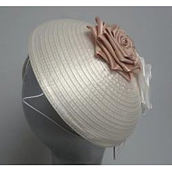 Swan Hat Satin Ribbon Ivory Fascinator Hat
