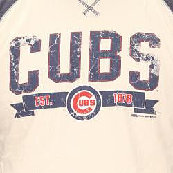 Stitches Men's Chicago Cubs Raglan Thermal Shirt