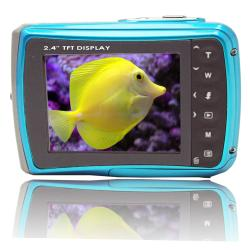 SVP WP6800 18MP Blue Waterproof Camera with 8GB Micro SD