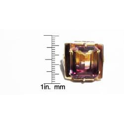 18k Gold Ametrine Art Deco 1930's Ring