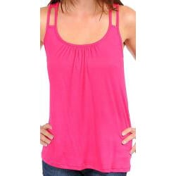 Stanzino Women's Fuschia Double Strap Loose Tank Top