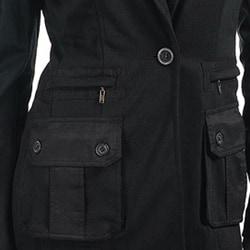 Stanzino Women's Black Collared Jacket