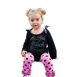 Mia Belle Baby Ruffled Polka Dot Baby/Toddler Legwarmers