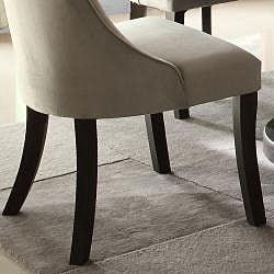 Alburn Grey Taupe Velvet Upholstered Dining Accent Chair (Set of 2)