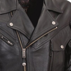 XPert Performance Mens Bronson Hybrid Black Leather Motorcycle Jacket