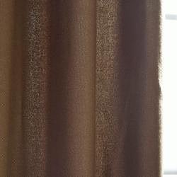 Cocoa Faux Cotton Cotenza Curtain Panel