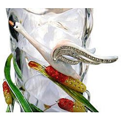 Cristiani Limited Edition Swan Crystal Vase