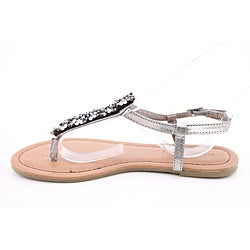 Madden Girl Women's Mikahh Silver Sandals