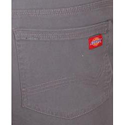 Dickies Women's Grey Slim-fit Canvas Bootcut Pant