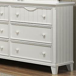 Alderson White Dresser and Mirror