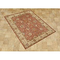 Hand-made Taj Mahal Rust Persian Wool Rug (9' x 12')