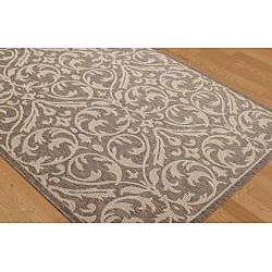 Garden Town Brown Area Rug (7'10 x 10'3)
