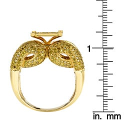 10k Yellow Gold 2 1/4 Ct Yellow Diamond Cocktail Ring