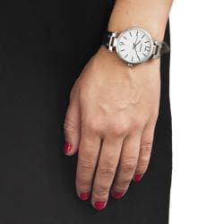 Monument Women's Narrow Strap Silvertone Analog Watch