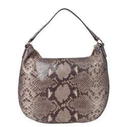 Michael Kors Sand Embossed Leather Hobo Bag