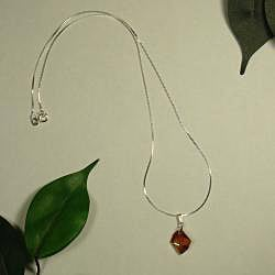 Jewelry by Dawn Sterling Silver Necklace With Small Copper Cosmic Crystal
