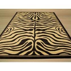 Pat Zebra Black Rug (4'9 x 6'6)