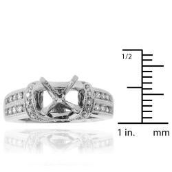 14k White Gold 2/5ct TDW Diamond Semi-mount Engagement Ring (G-H, SI1/SI2)