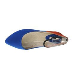 Refresh by Beston Women's Royal-Blue JULIA-03 Point Toe Flats